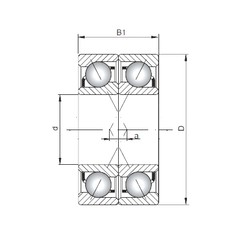 ISO 71917 CDF angular contact ball bearings