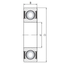 ISO 63205-2RS deep groove ball bearings