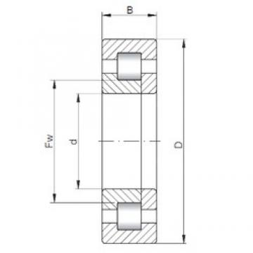 ISO NUP19/500 cylindrical roller bearings