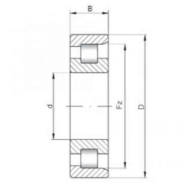 ISO NF212 cylindrical roller bearings