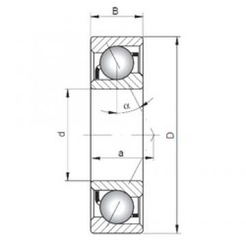ISO 7014 B angular contact ball bearings