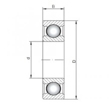 ISO 60/800 deep groove ball bearings