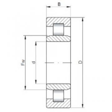 ISO NU3332 cylindrical roller bearings