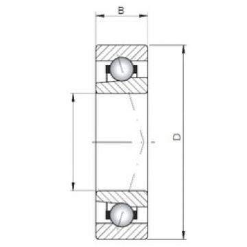 ISO 71826 C angular contact ball bearings