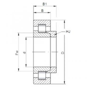 ISO NH308 cylindrical roller bearings